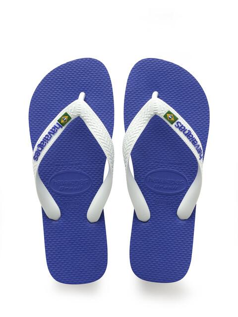 havaianas Brasil Logo - Sandales Homme - bleu/blanc